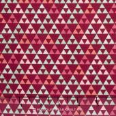 On Trend - Trend Triangle Raspberry Yardage