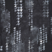 "Houndstooth Kaleidoscope - Houndstooth Black White Digitally Printed 108"" Wide Backing"