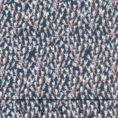 Blush - Petals Blue Sparkle Yardage
