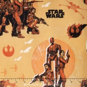 Star Wars: Rogue One - Rebels Light Orange Yardage