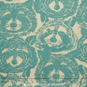 Nicole's Prints - Rocky Raccoon Natural Yardage