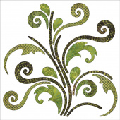 Bohemian Chic Batik Vines Fusible Appliqué Shapes