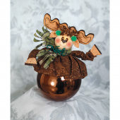 Noel Moose Ice Cream Shot® Ornament Kit
