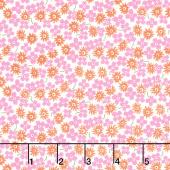 Fiddle Dee Dee - Fiddle Packed Flowers Pink Yardage