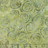 Tonga Batiks - Nutmeg Swirls Sage Yardage