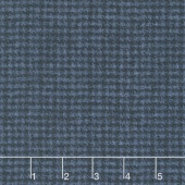 Woolies Flannel - Houndstooth Dark Navy Yardage
