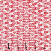 Cherry Twist - Optic Circles Cherry/White Yardage