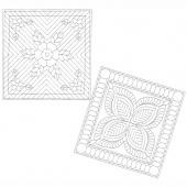 Garden Bouquet Wholecloth Pillows Kit - White