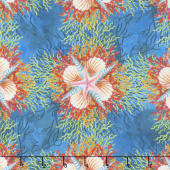Calypso - Shells Blue Digitally Printed Yardage
