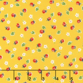 Sugar Sack - Berries Yellow Yardage