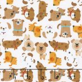 Puppy Love - Love White Yardage