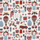 Celebrate America! - Icons Cream Yardage