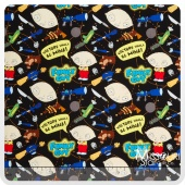 Family Guy - Toys of Destruction Black Yardage