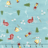 Gone Glamping! - Camping Toss Teal Yardage