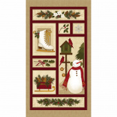 Winter Wonderland - Natural Multi Panel