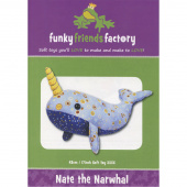 Nate the Narwhal Funky Friends Factory Pattern