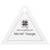 EZ Quilting Jelly Roll Ruler - Mini 60º Triangle