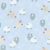 Sweet Dreams - Dreamy Sheep Sky Blue Yardage