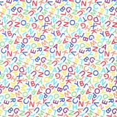 Novelty - Alphabet Dance White Yardage