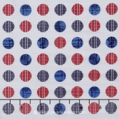 Patriotic Pride - Dot White Yardage