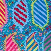 Kaffe Collective - Jewel Striped Herald Turquoise Yardage