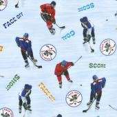 Sports - Ice Hockey Blue Yardage