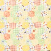 Sweet Bees - Honeycomb Patchwork Yellow Yardage