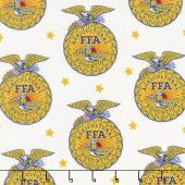 FFA Forever Blue - FFA Emblem White Yardage