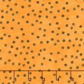 Goosetales - Scattered Dots Orange Yardage