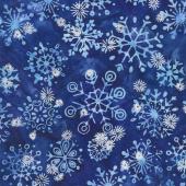 Artisan Batiks - Snowflakes 2 Snowflakes Lapis Metallic Yardage