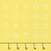 Cottage Joy - Ring Dot Yellow Yardage