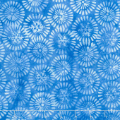 Winter Frost Batiks - Nordic Snowflake Bluebird Yardage