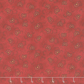 Idaho Prairie Star - Stylized Flower Red Yardage