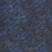 Seasons - Paisley Blue Digitally Printed Yardage