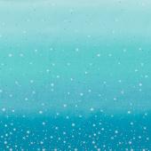 Ombre Fairy Dust Metallic - Turquoise Yardage