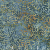 Clockworks Batiks - Mosaic Burst Medium Lagoon Yardage