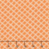 Aunt Grace's Apron - Leaf Trellis Orange Yardage