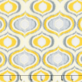 Limoncello - Pearl Ogee Yellow Pearlized Yardage