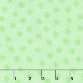 Comfy Flannel® - Swirl Dot Mint Green Yardage
