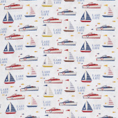 Lake Life - Lake Fun Gray Yardage