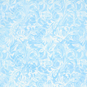 Buttercup Batiks - Leaf Tendrils Chambray Yardage