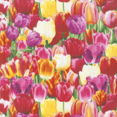 Tulip Farm - Packed Tulips Bright Yardage