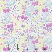 Garden Delights ll - Butterflies Purple Yardage