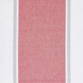 Picnic Point Tea Toweling - Wide Stripe Red Yardage