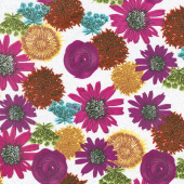 Makers Home - Multi Flower Magenta Yardage