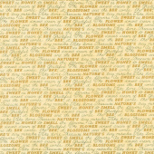 Bee Grateful - Sweet Words Honey Yellow Yardage