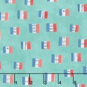 Wonder - French Flags Aqua Yardage