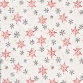 Flannel Gnomies - Snowflake White Yardage