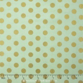 On Trend - Trend Dot Mint Sparkle Yardage