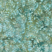 Splendor Batiks - Leaf Trails Emerald Yardage